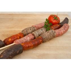 Brochette 4 sausages